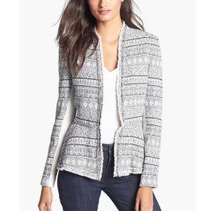 Rebecca Taylor Peplum Tweed Blazer Jacket SZ 4